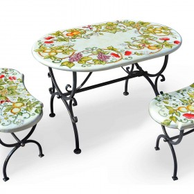 """Table Tops """"Ceramic and Lava Stone - Decorated"""""""